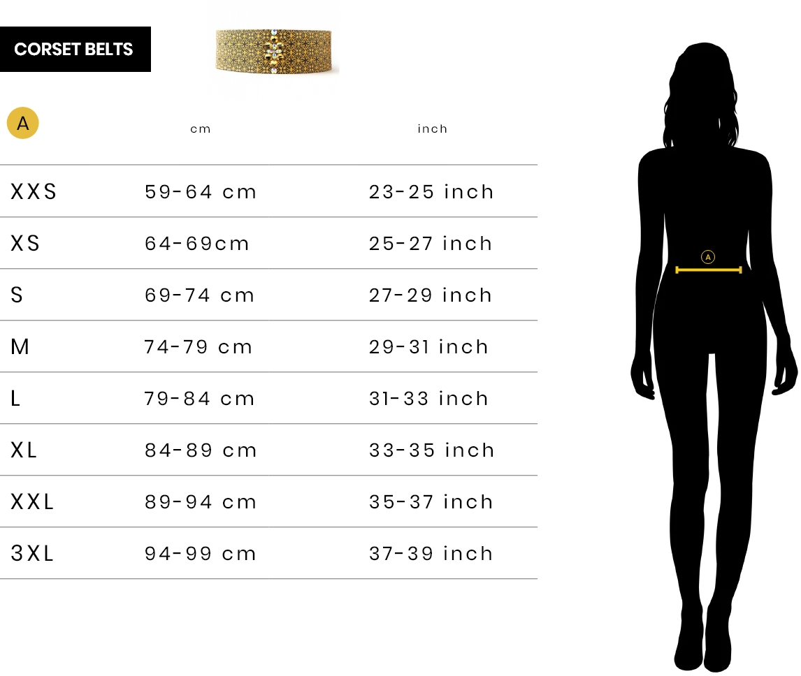Get the right size - Corset belts - urshy.com